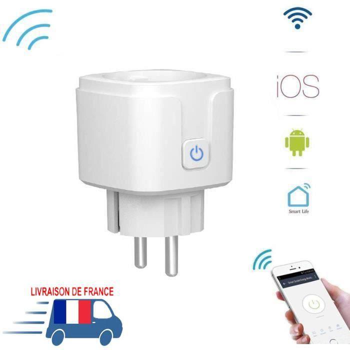 Prise Connectée,pour économies d'énergies ,wifi intelligente Contrôle par Application,Fonction de minuterie -W1