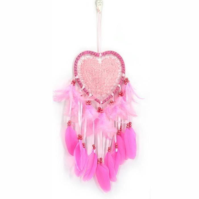 CARILLON A VENT - CARILLON EOLIEN,Offre spéciale attrape rêves en forme de cœur - Type Pink