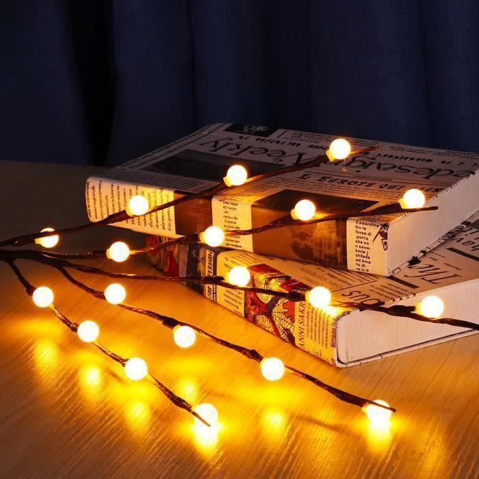 LED Branches Lumières Arbre Lumineuse Déco Pour Bonsaï Vase Type Boule Aw10655