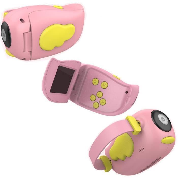 Appareil photo enfant,Bébé jouets 0 12 mois dessin animé appareil photo numérique enfants créatif jouet éducatif - Type Angel Pink