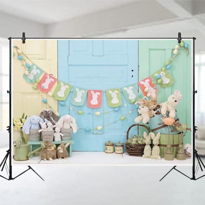 Toile de Fond Photo Studio Easter Lapin - 1.5x0.9m