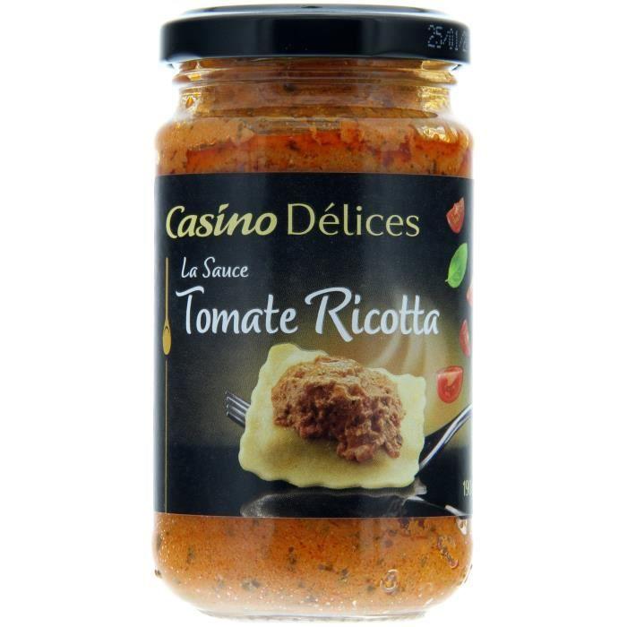 CASINO DELICES Sauce Tomate Riccotta Basilic - 190g