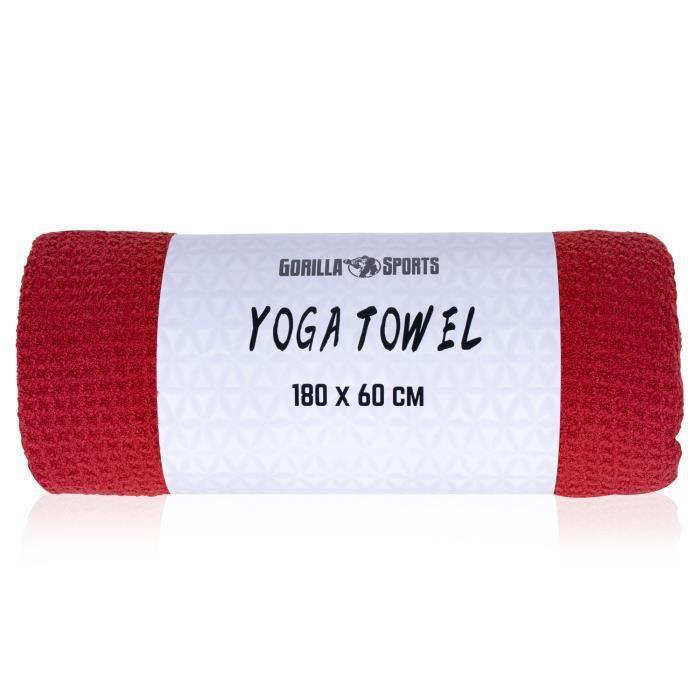 Serviette de yoga rouge - 180 x 60 cm