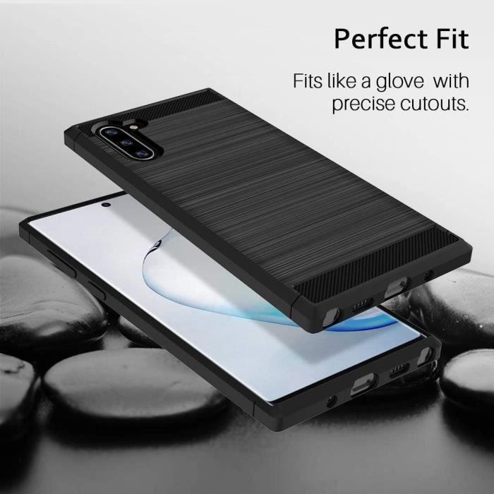 Coque pour Samsung Galaxy Note 10,[Anti-Empreintes digitales][Slim Fit] Flexible en TPU Brossé Housse Case avec Protection