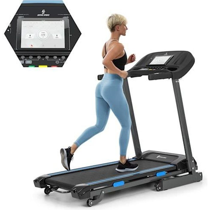 Capital Sports Highflyer 2.0 Tapis de course cardio-training - 12 programmes - Ports USB MP3 / SD