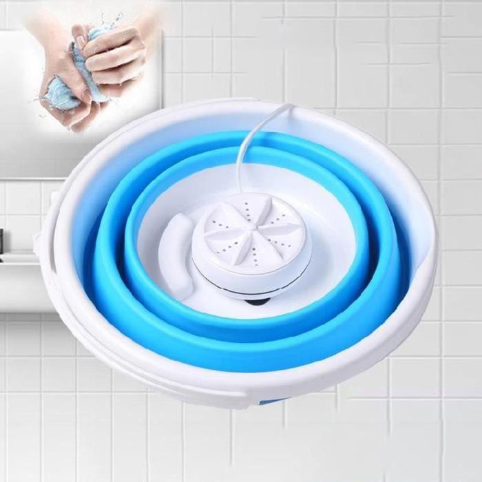 Mini Machine à laver à turbine à ultrasons Type de seau pliable USB blanchisserie laveuse à linge nettoyeur pour les voyages