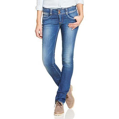 Pepe Jeans Gen - Jeans - Droit - Femme - Bleu (Denim 000-D45) - W28/L32 (Taille fabricant: 28/32)