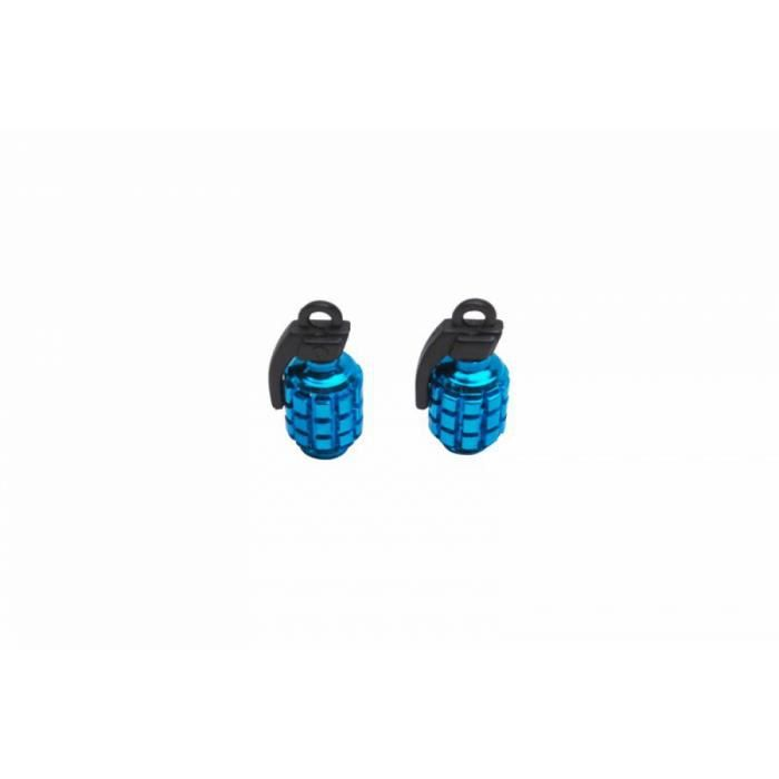 PIECE DETACHEE DE PNEU Bouchon de valve Grenade bleu (Paire) - Replay