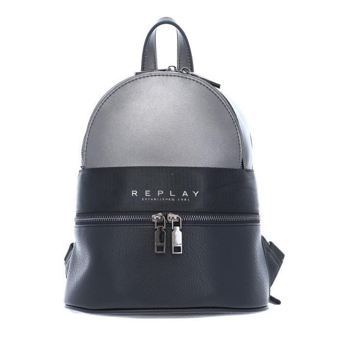 REPLAY Backpack Black - Lux Gmetal [99826]