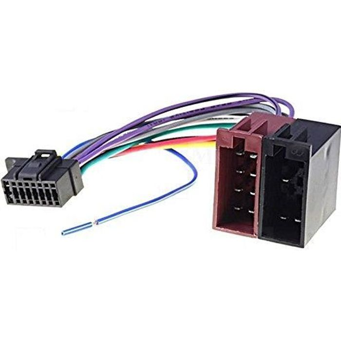 Câble adaptateur ISO autoradio SONY CDX-GT570UI CDX-GT574UI CDX-GT575UP CDX-GT575UI