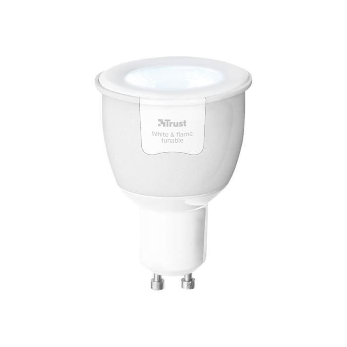 Trust ZigBee ZLED-TUNEG6 Ampoule LED avec réflecteur GU10 6 W (équivalent 35 W) classe A flame-cool light 2200-6500 K