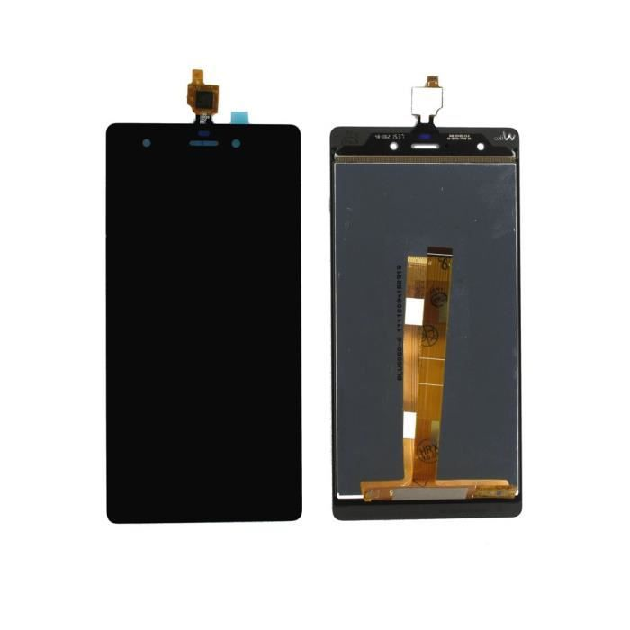 Ecran complet vitre tactile + lcd wiko pulp 4g noir + outils