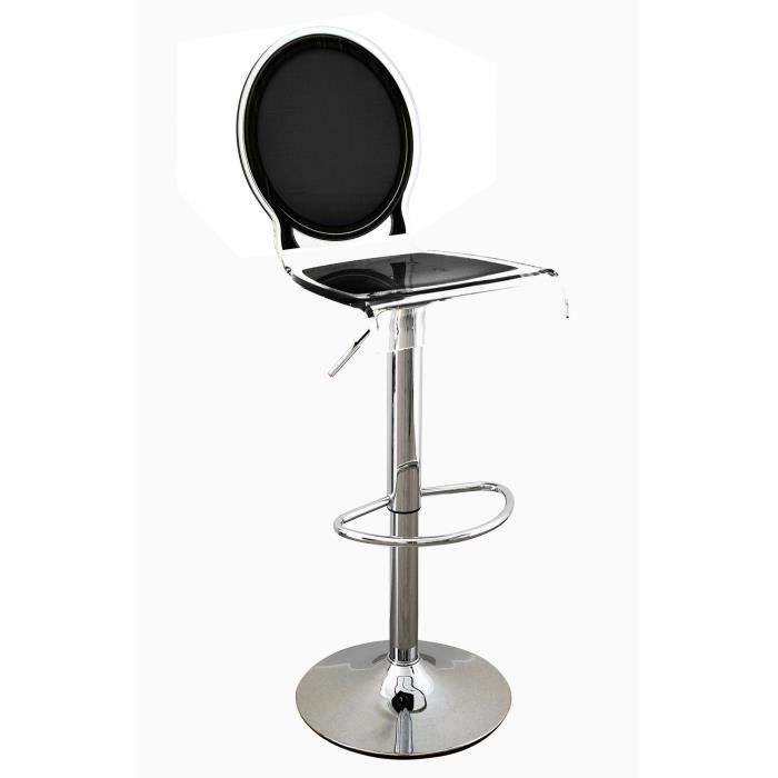 acrila tabouret de bar sixteen pied m tallique noir achat vente tabouret de bar noir. Black Bedroom Furniture Sets. Home Design Ideas