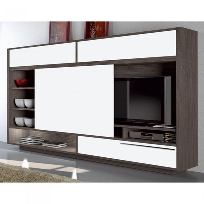 meuble tv mural brown slide couleur marron mati achat. Black Bedroom Furniture Sets. Home Design Ideas