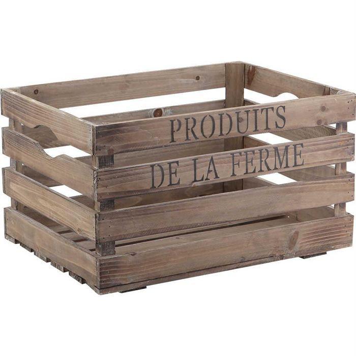 Caisse En Bois Produits De La Ferme Achat Vente Casier Pour Meuble Bois Cdiscount