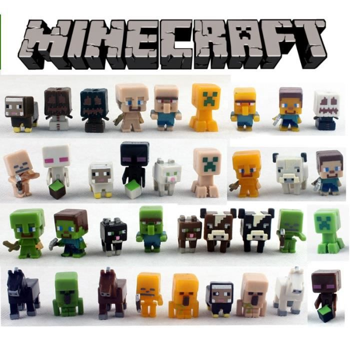 36pcs minecraft figurines figurine personnage miniature 3514590890585 achat vente. Black Bedroom Furniture Sets. Home Design Ideas