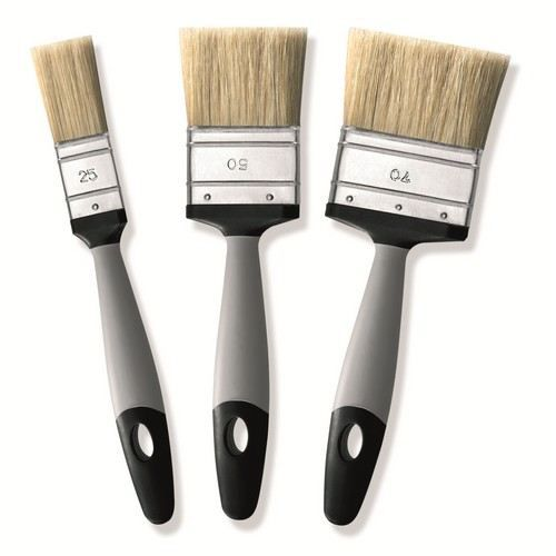 3 pinceaux brosses plates doit peinture murale achat vente pince electricien pinceaux. Black Bedroom Furniture Sets. Home Design Ideas