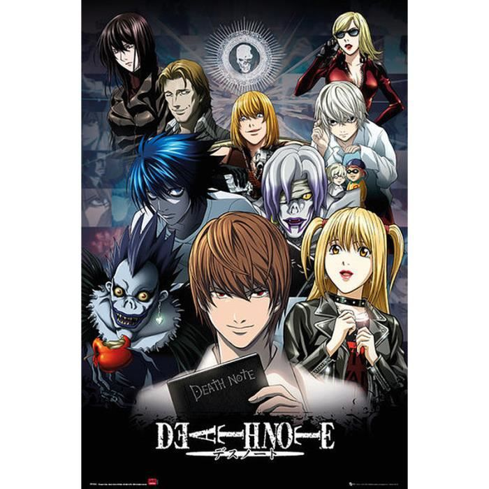poster death note achat vente poster death note pas. Black Bedroom Furniture Sets. Home Design Ideas
