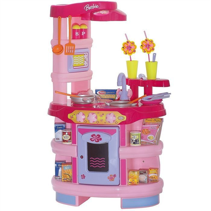 cuisine enfant barbie lectronique accessoires achat vente poup e cdiscount. Black Bedroom Furniture Sets. Home Design Ideas