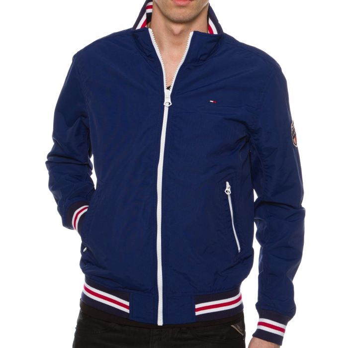 veste tommy hilfiger niles blue bleu bleu achat vente veste cdiscount. Black Bedroom Furniture Sets. Home Design Ideas