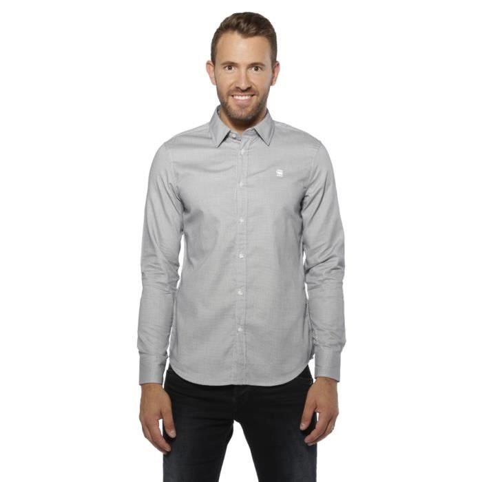 chemise blouse homme g star raw valdo core shirt swedish blue gris achat vente chemise. Black Bedroom Furniture Sets. Home Design Ideas