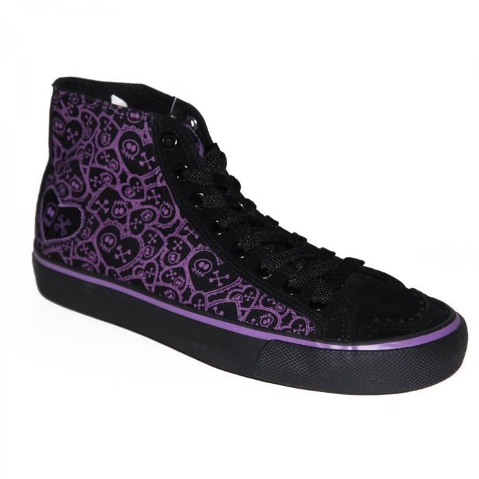 samples shoes DRAVEN SKULLENTINE BLACK PURPLE WOMEN