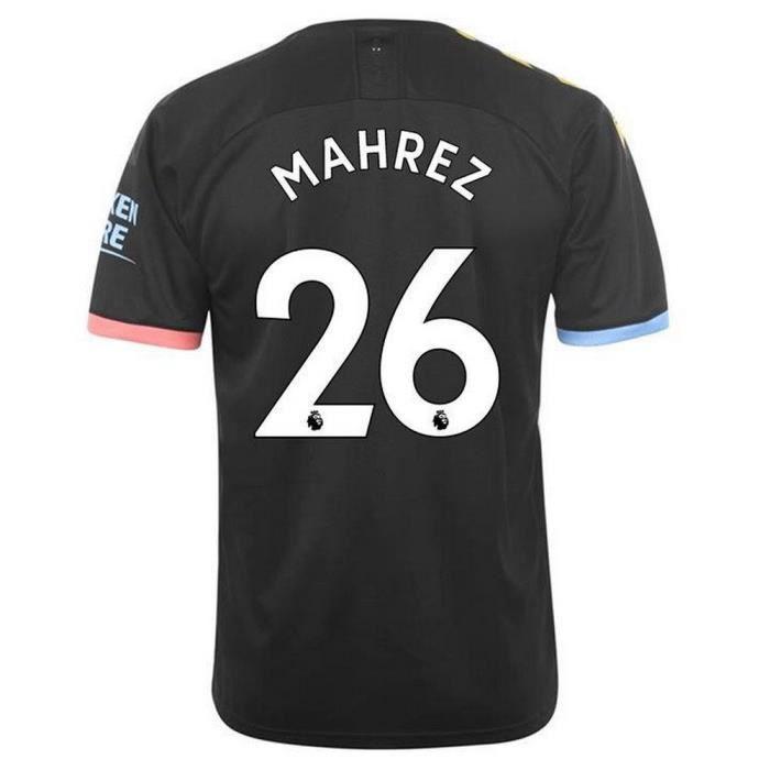 Nouveau Maillot Puma Homme Manchester City Extérieur Flocage Officiel Mahrez Numéro 26 Saison 2019 2020