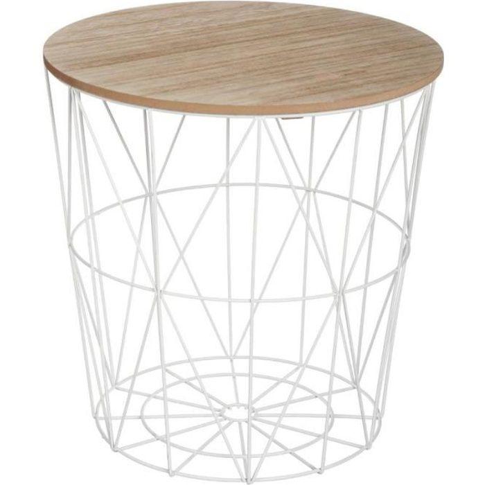"""TABLE D'APPOINT Paris Prix - Table d'Appoint Design """"Kumi"""" 41cm Bl"""