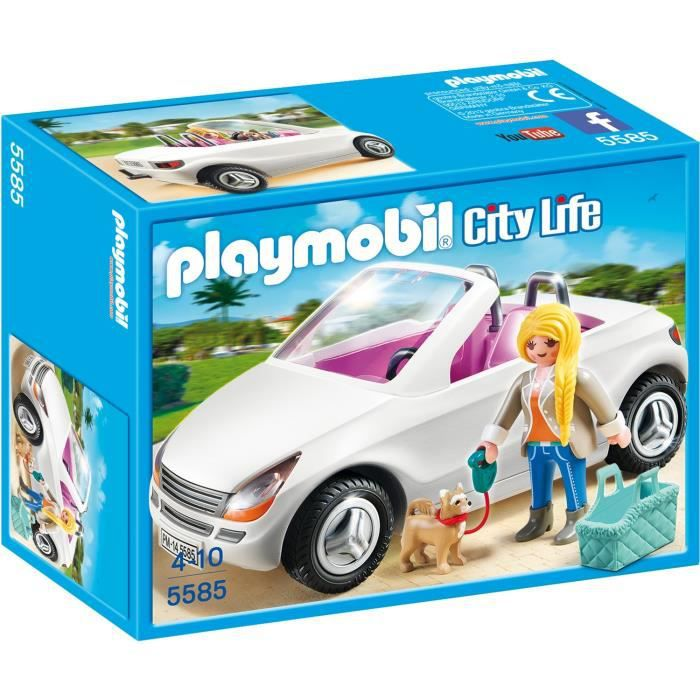 playmobil 5585 voiture cabriolet achat vente univers miniature cdiscount. Black Bedroom Furniture Sets. Home Design Ideas
