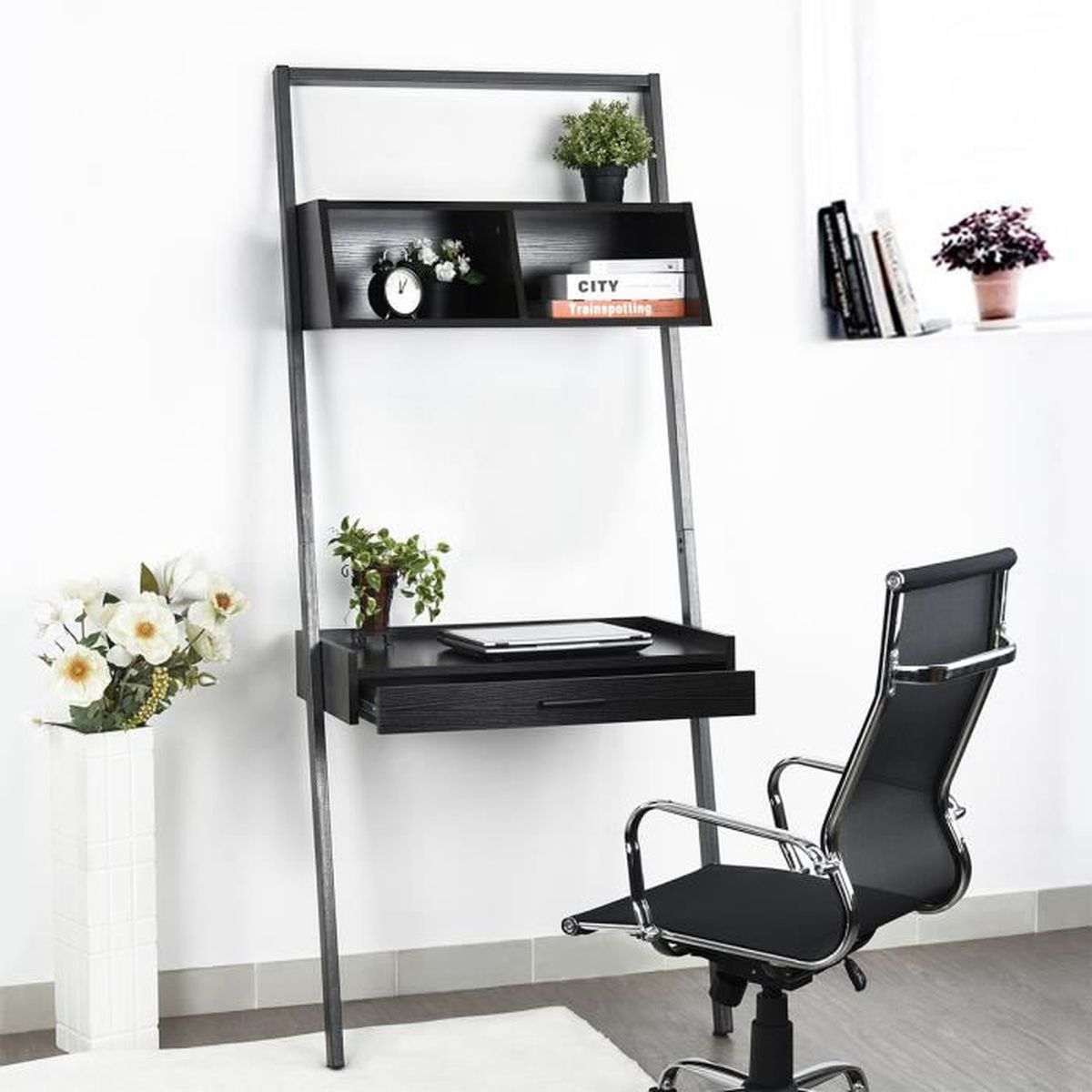 bureau mural ordinateur portable bureau etudiant bureau. Black Bedroom Furniture Sets. Home Design Ideas