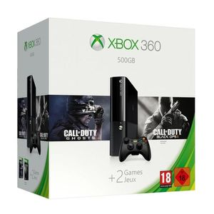 CONSOLE XBOX 360 Xbox 360 + Call of Duty Ghosts + Black Ops 2