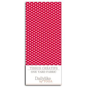 Dailylike Coupon 110x90cm - Rouge pois blanc