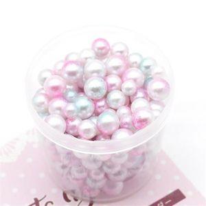 300pcs sans trou Perle Charms Perles Pour Coque Téléphone Décoration Blanc Rose 5 mm