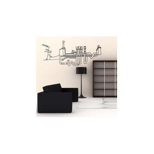 STICKERS Stickers Toits Au TraitGris - 68 x 157 cm