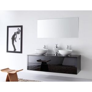 InterougeHome - Meuble de salle de bain en bois massif ...