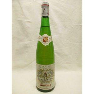 VIN BLANC riesling auguste gerber (b3) blanc 1981 - alsace f