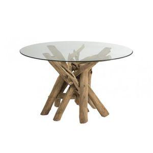 TABLE À MANGER SEULE Table à manger ronde en bois flotté