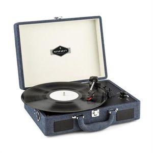 PLATINE VINYLE auna Peggy Sue Platine disque vinyle 33,45,78 t/mi