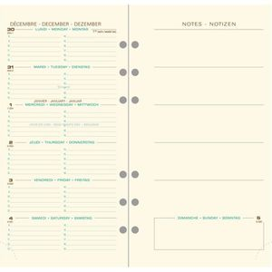 AGENDA - ORGANISEUR Recharge Exatime 17 Pocket  Semainier Sem sur 2p a