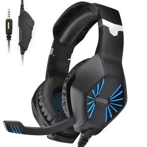 CASQUE AVEC MICROPHONE Casque Gaming pour PS4 Xbox one S Casque Gamer ave