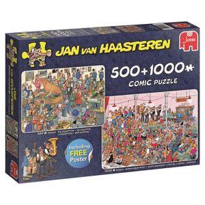 PUZZLE Puzzle 1000 pièces 2 Puzzles - Jan Van Haasteren