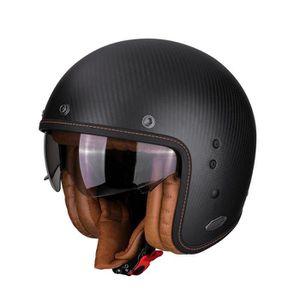 CASQUE MOTO SCOOTER Casque moto - Scorpion BELFAST CARBON Noir Mat - L