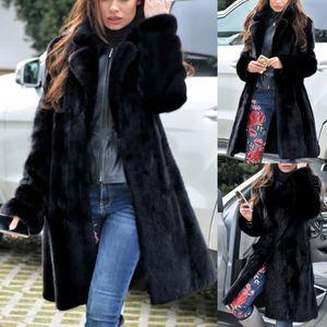 Femme Faux Laine Manteau Tailored Slim Smart manteau fausse fourrure Col Veste