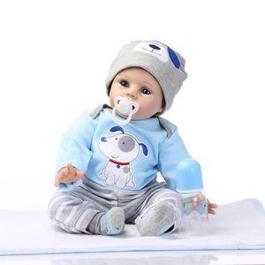 POUPÉE 55 cm Silicone reborn bébé poupée jouets simulatio