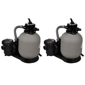 POMPE - FILTRATION  Pompes à filtre à sable 2 pcs 600 W 17000 l-h avec