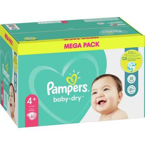 COUCHE Pampers Baby-Dry Taille4+, 82Couches