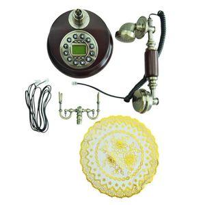 Téléphone fixe Telephone Fixe Resine Retro Antique avec Repondeur