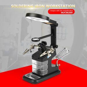 FER - POSTE A SOUDER 3X / 4,5X / 25X USB Station de travail de fer à so
