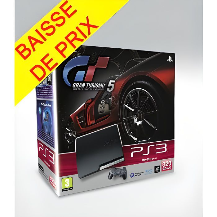 Pack PS3 320 Go Noire + Gran Turismo 5