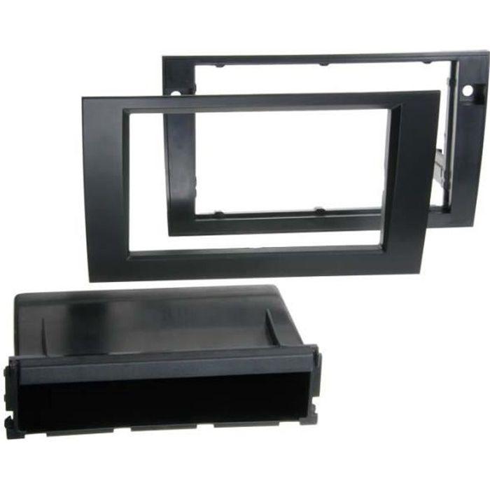 Adaptateur de façade 2-DIN avec vide poche Audi A4 / Seat Exeo noir